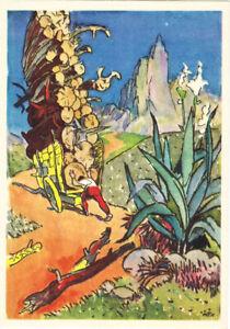 1965-Russian-postcard-Man-Logs-Brazilian-Tale-MANUEL-IRON-STAFF-by-G-Filippovsky