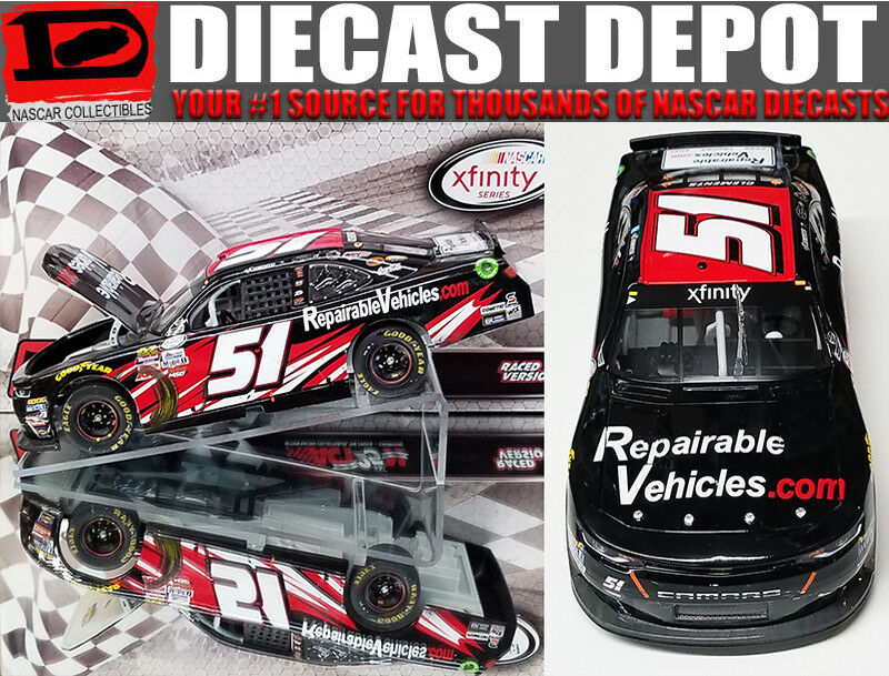 JEREMY CLEMENTS 2017 REPAIRABLEVEHICLES.COM WISCONSIN WIN RACED VERSION 1 24 ACT