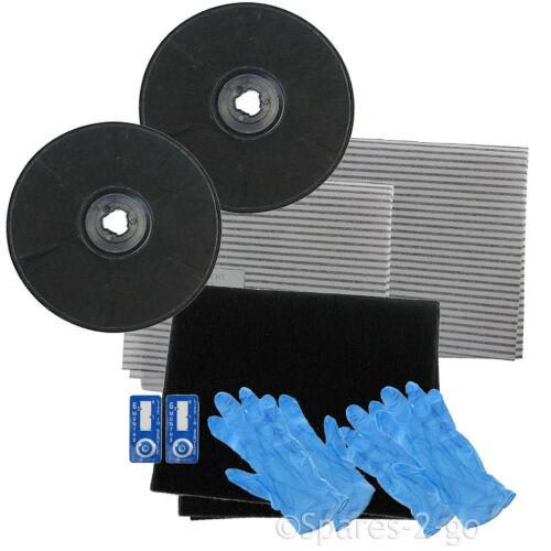 2 x EFF57 type carbone filtre à charbon kit pour indesit cuisinière hood ventilation extracteur