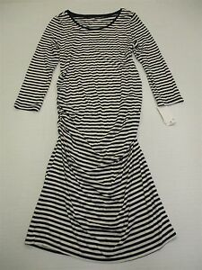 new-LIZ-LANGE-MATERNITY-DR625-Women-039-s-Size-XS-Striped-White-Bodycon-Dress
