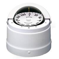 Ritchie Dnw-200 Marine Boat Sailboat Navigator Compass Binnacle Mount White 12v