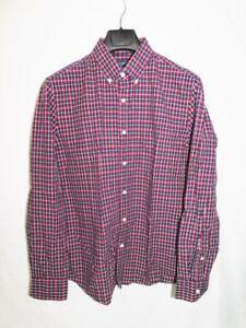 J-Crew-M-NWT-Slim-Fit-Blue-Red-Plaid-Washed-Shirt-Button-Down-Collar-Cotton-Md