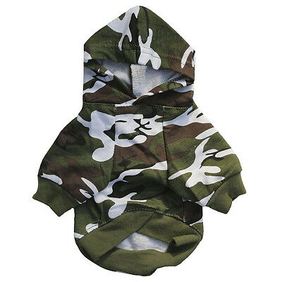 New Fashion Puppy Pet Dog Camouflage Clothes Chihuahua Hoodie Sweatshirts Coat