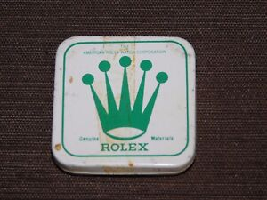 VINTAGE-1-5-8-039-X-1-5-8-034-AMERICAN-ROLEX-WATCH-CORP-SMALL-TIN-PARTS-BOX-EMPTY