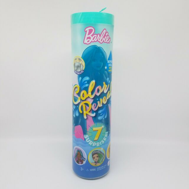 Barbie Color Reveal Doll, Mermaid Series with 7 Surprises, GTP43, New!