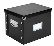 Letter Size File Box Storage Bin Document Paper Folder Magazine Organizer Black