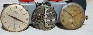 lotto-MOVIMENTI-orologio-certina-331-peseux-330-unitas-vintage-uomo
