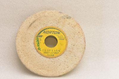 NOS Norton 2 Inch Diameter 80 Grit Alundum Grinding Wheels 32A80