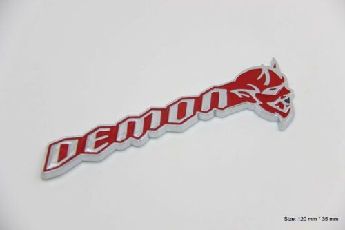 B448 Demon Emblem Devil Badge auto aufkleber 3D Hellcat SRT Fender Side chrom