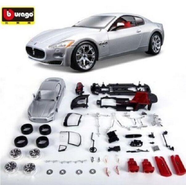 Bburago 1 24 Maserati GT Assembly DIY Racing Car Diecast MODEL KITS Toy Vehicle