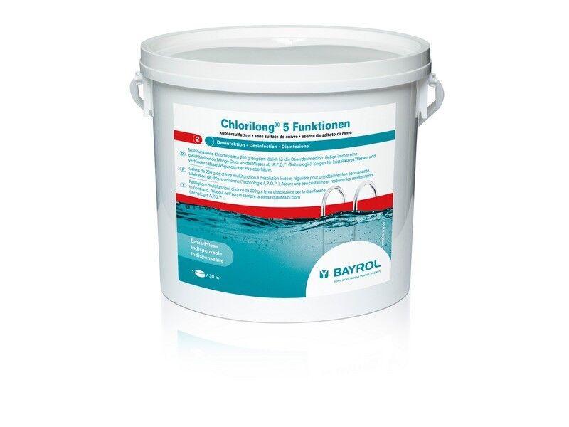 BAYROL CHLORILONG POWER 5 Multitab 5 KG Chlor Tabletten 200 g Multi-Tab