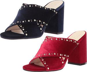 643f7cb3c30 Women Cole Haan Heels Sandals Gabby Studded Velvet Dressy Heels NEW ...