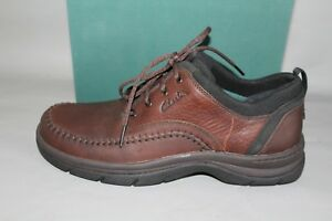 ac5a43e3f053 NEW Men s Clarks Portland Size 10 Medium Brown Leather Comfortable ...