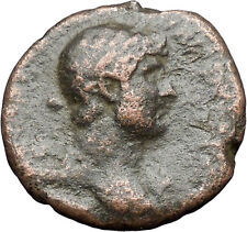 HADRIAN Bisexual Emperor BIG Ancient Roman Coin PAX Peace Goddess  i47953