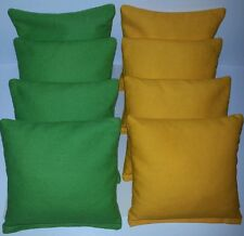 SET OF 8 LIME GREEN & YELLOW CORNHOLE BEAN BAGS FREE SHIPPING!