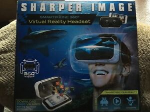 Sharper Image Smartphone 360 Virtual Reality Headset New Ebay