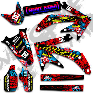 2013-2014-2015-2016-HONDA-CRF-450R-NIGHTRIDER-RED-CYAN-GRAPHICS-DECALS-KIT