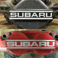 SUBARU IMPREZA FRONT REAR 2 4 POT BRAKE CALIPER WRX STI LOGO DECAL STICKER VINYL