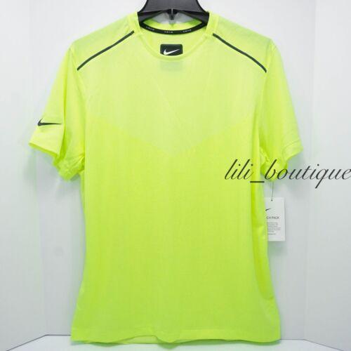 NWT Nike AQ6375-702 Mens Tech Pack Shirt Running Top Highlight Yellow $80 Size L