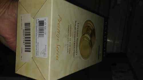 Baldwin 351ATKRDB3 Prestige Alcott Half-Dummy Knob in Polished Brass