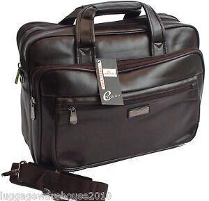 Image Is Loading Mens Brown Laptop Bag Messenger Briefcase Business Work