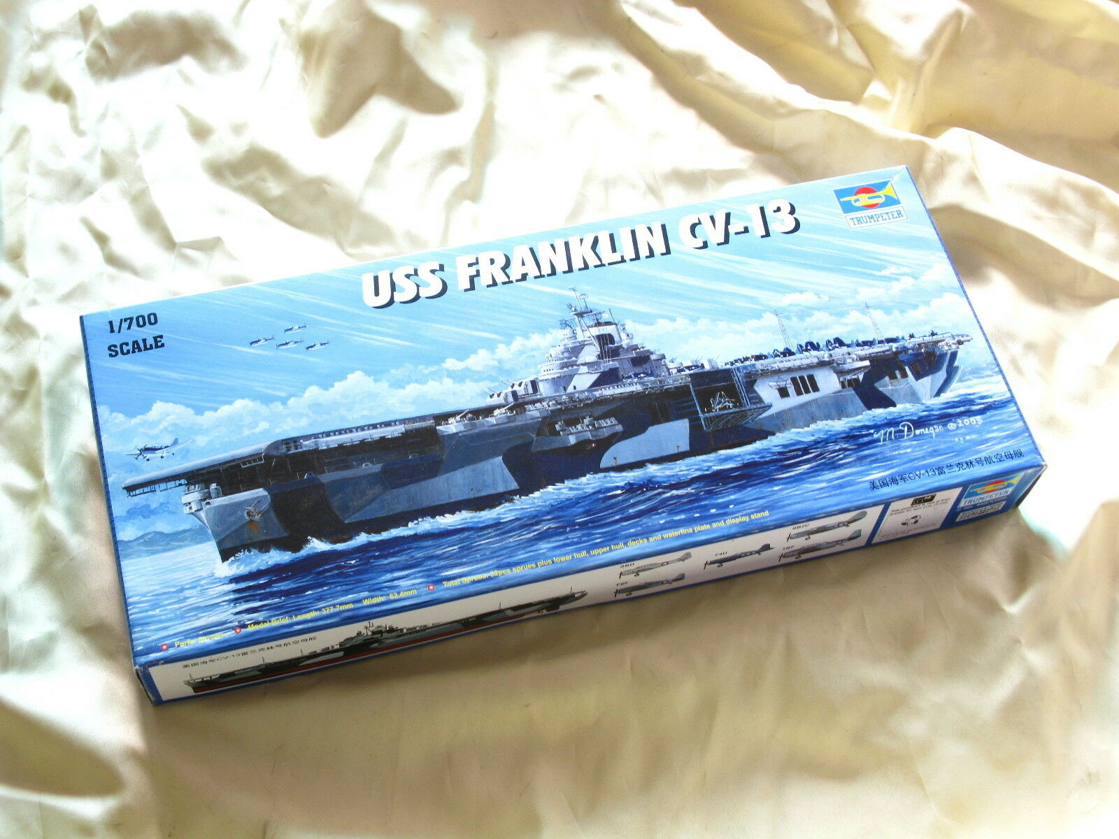 05730 Trumpeter 1 700 Model Scale USS CV-13 Franklin Aircraft Carrier Static