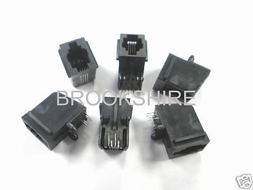 15 PC. PC BOARD MOUNT TYCO 5520249-2 4p4c RJ22 HANDSET JACK