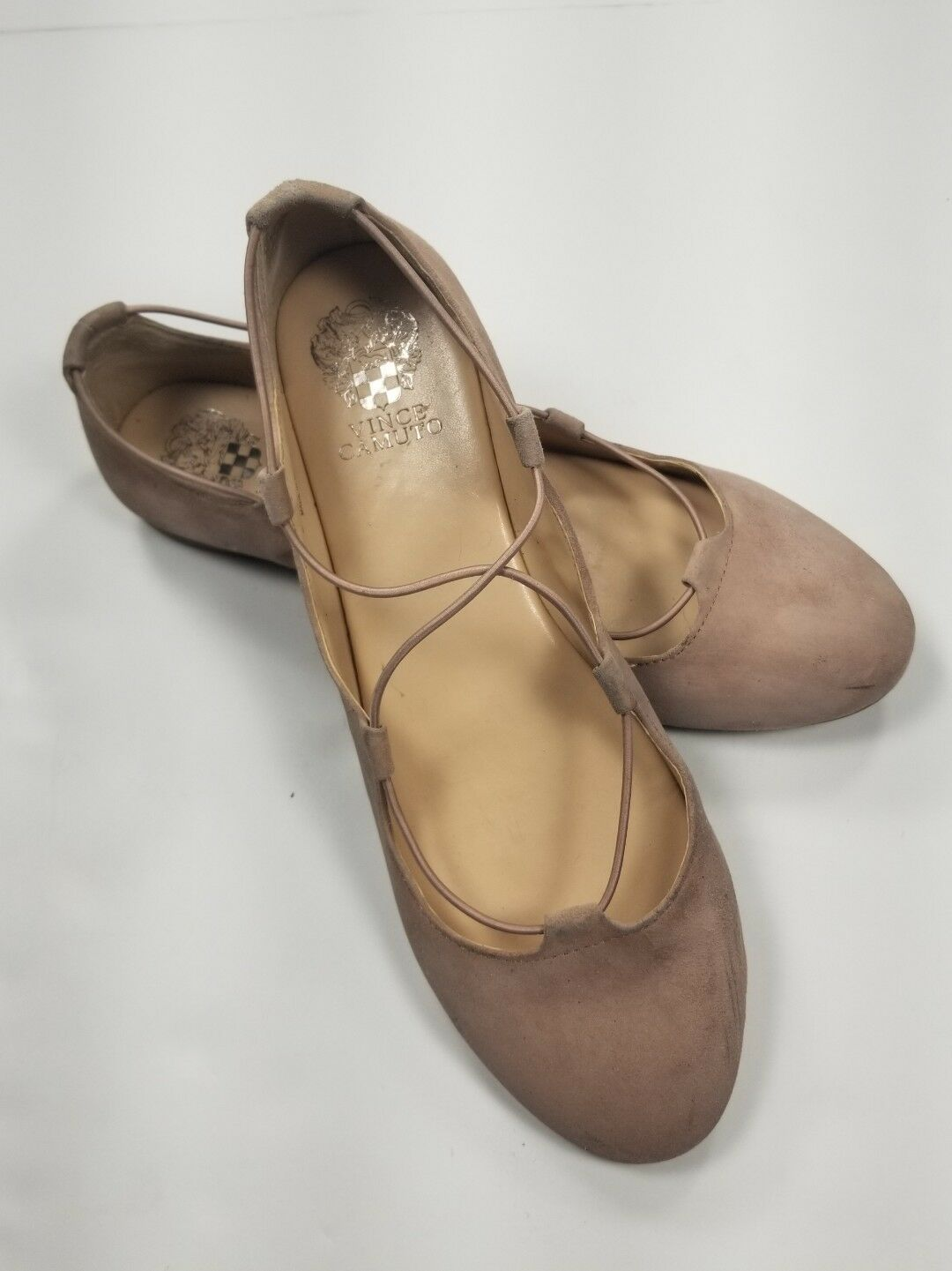 VINCE CAMUTO Ballet Flats Sz  10M/40  Womens Nude