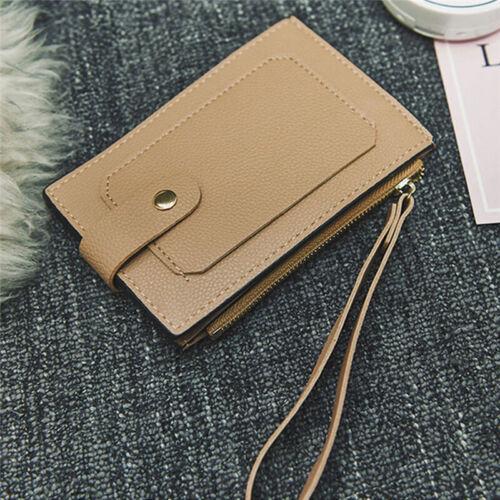 Women/'s Ultra Thin Wallet Credit Card Holder PU Leather Slim Purse Multi Card N7