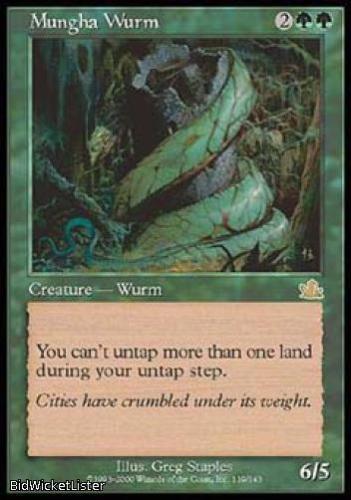 Mungha Wurm LP X4 Prophecy MTG Green Rare