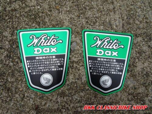 HONDA DAX WHITE 50 70 ST50 ST70 Emblem Frame Aluminum L//R A pair made in Japan