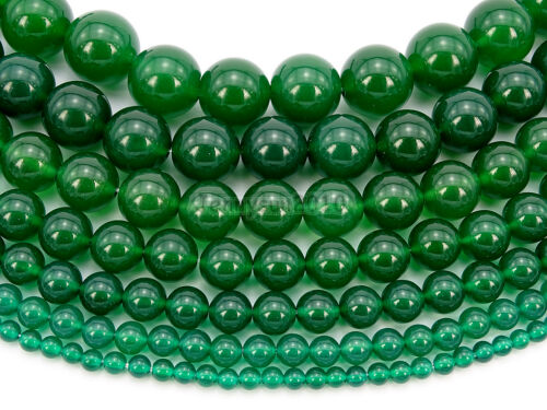 Natural Green Agate Gemstone Round Beads 15'' 4mm 6mm 8mm 10mm 12mm 14mm 16mm