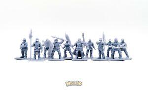 Men-at-arms, Mercenaries, Town Guard Remake - Heroquest DungeonWorks - Minis3D