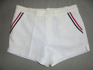 vintage 80s Tennis Shorts weiß oldschool 80er Jahre sport pants retro weiß 52 M