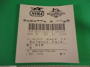 2015 Belmont Stakes Triple Crown Winning Ticket - UNCASHED - MINT - American