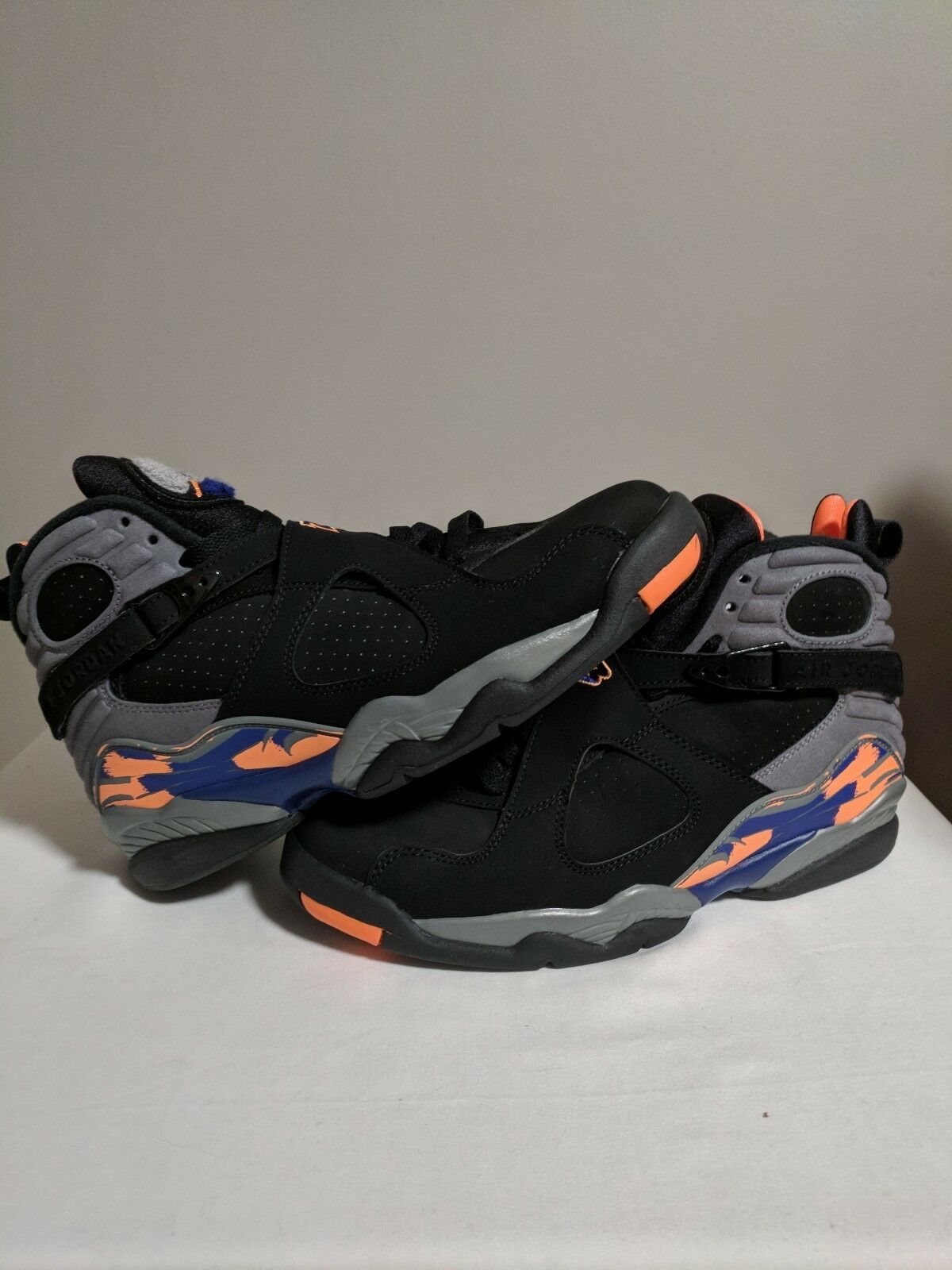 12ef5bd8da9a0b NEW Nike Nike Nike Air Jordan VIII 8 Retro purple orange Phoenix Suns Men Size  8.5