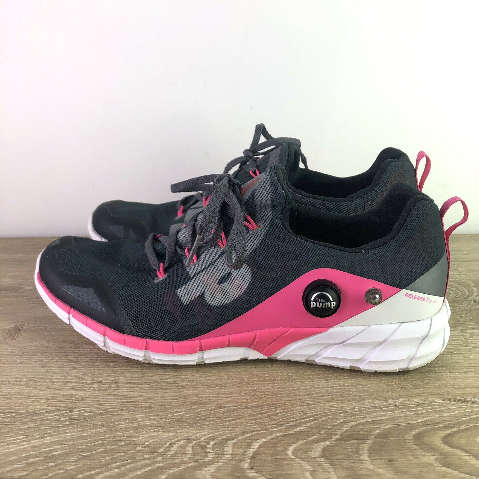 Reebok zpump Fusion 2.0 Gris Rose Femme Taille 10 Crossfit Course Gym Chaussures