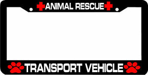 Animal Rescue Transport Vehicle Paw Print License Plate