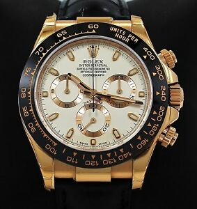 0a713147a14 Image is loading Rolex-Daytona-116515-Cosmgraph-18K-Rose-Gold-Ivory-