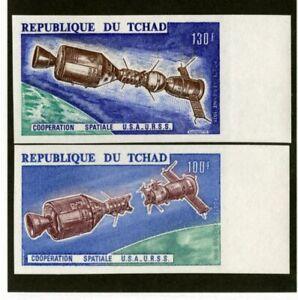 Chad-Stamps-C166-7-VF-OG-NH-Imperf