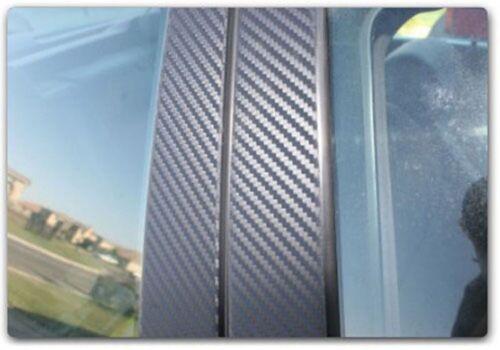 W203 6pc Set Sedan Di-Noc Carbon Fiber Pillar Posts for Mercedes C-Class 01-07