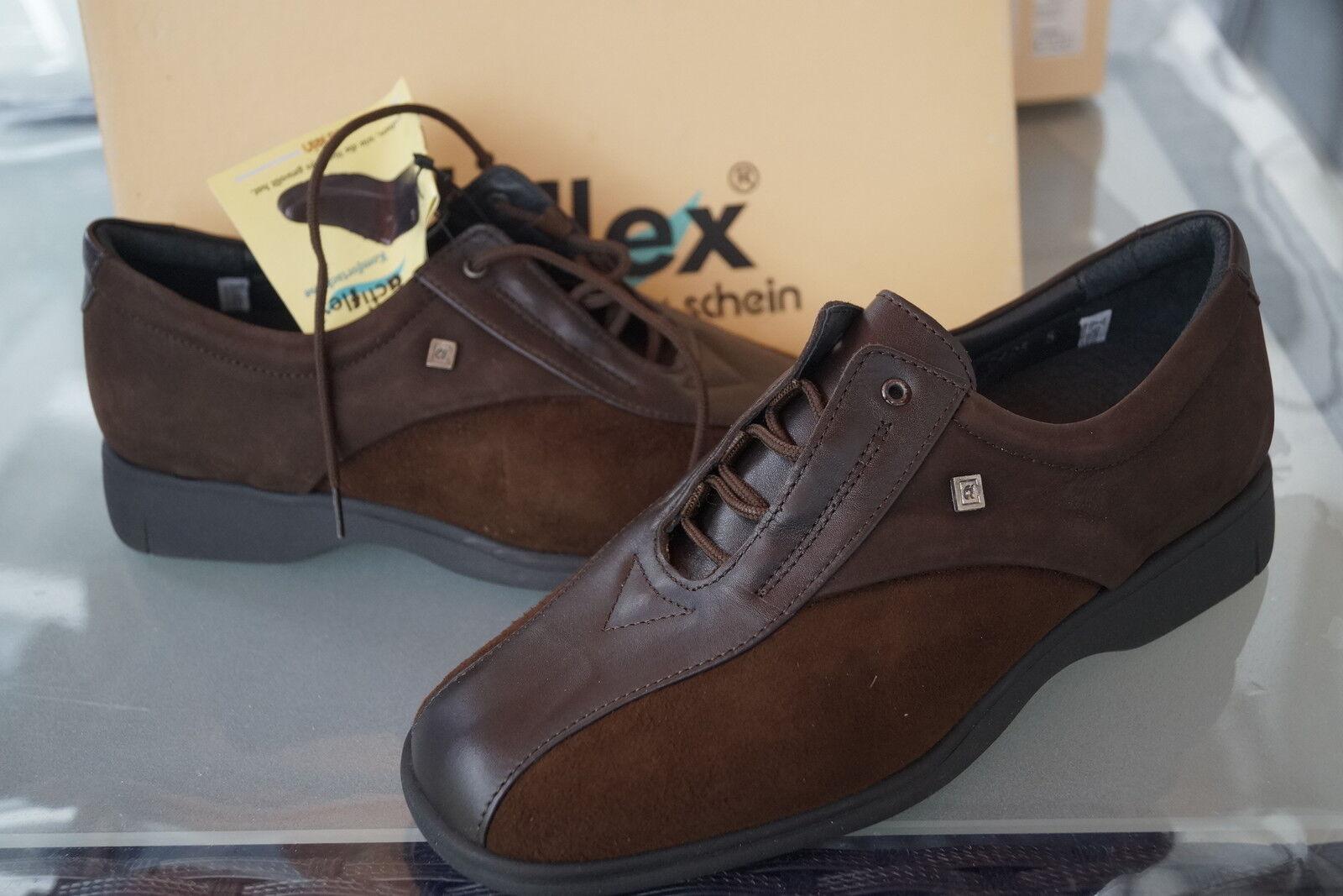 Actiflex Damen Comfort Schuhe Wohlfühlschuhe Leder braun mit