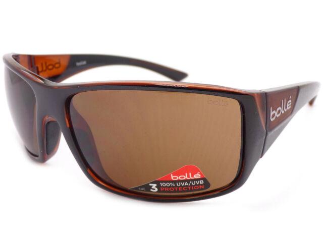 Bolle Weaver Sunglasses Shiny Black//Matte Brown TLB Dark 12138