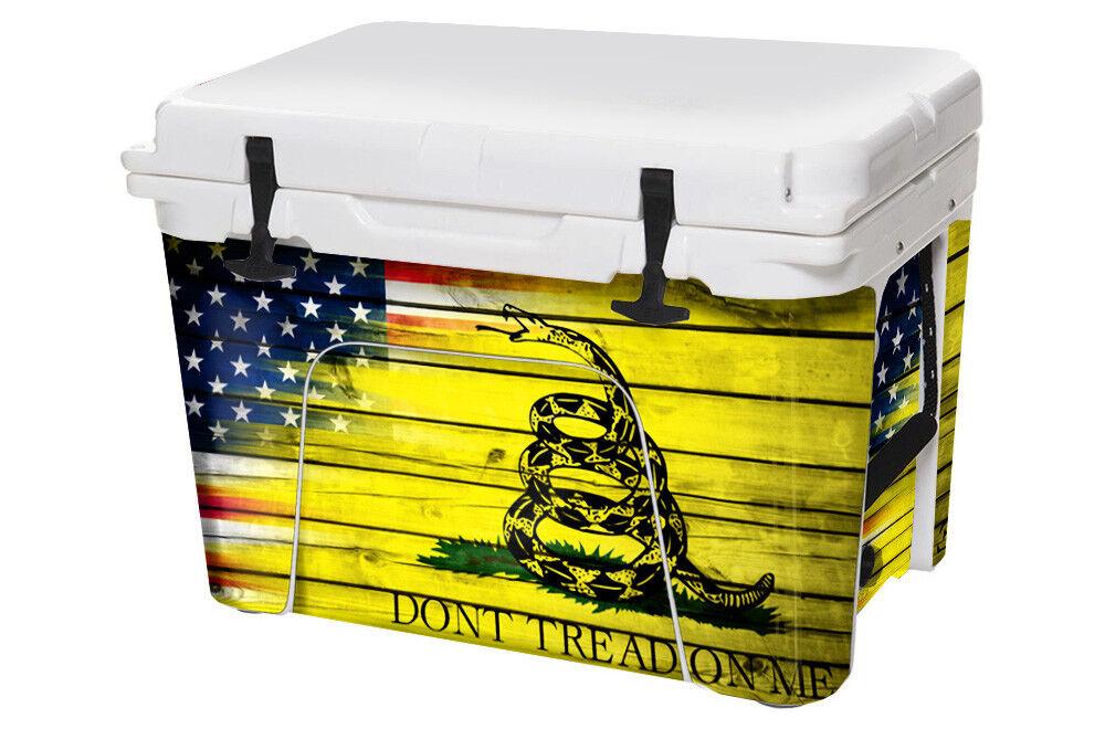 USATuff Cooler Decal Wrap passt zu YETI Tundra 45qt Full Lower USA Don't Tread Farbe