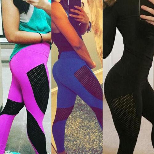 Damen Push Up Hohe Taille Leggings Yoga Sport Fitness Hosen Training Jogginghose