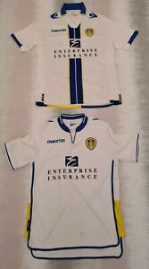 Leeds-United-Football-Top-Bundle-2-Tops-Sz-M-Memorabilia-Macron-LUFC-Home-C52