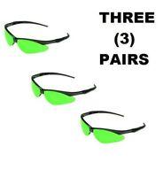 3 Pair Jackson Safety 3004761 Nemesis Cutting Glasses Black Frame / Iruv 5.0 on sale