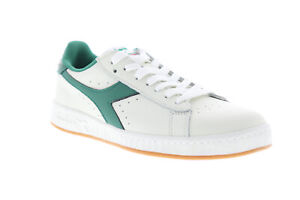 Diadora Game L Low 172526-C7915 Mens White Leather Casual Low Top Sneakers Shoes