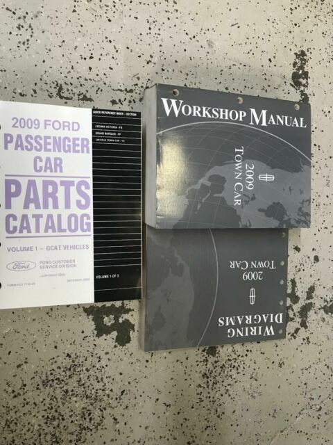 2009 Lincoln Town Car Service Repair Shop Workshop Manual Set W Ewd   Parts Book