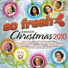 SO FRESH Songs For Christmas 2010 CD - Lady Gaga Sting Adam Harvey Boney M Wham